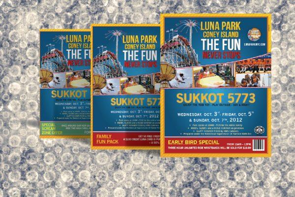 Coney Island Luna Park Print Design