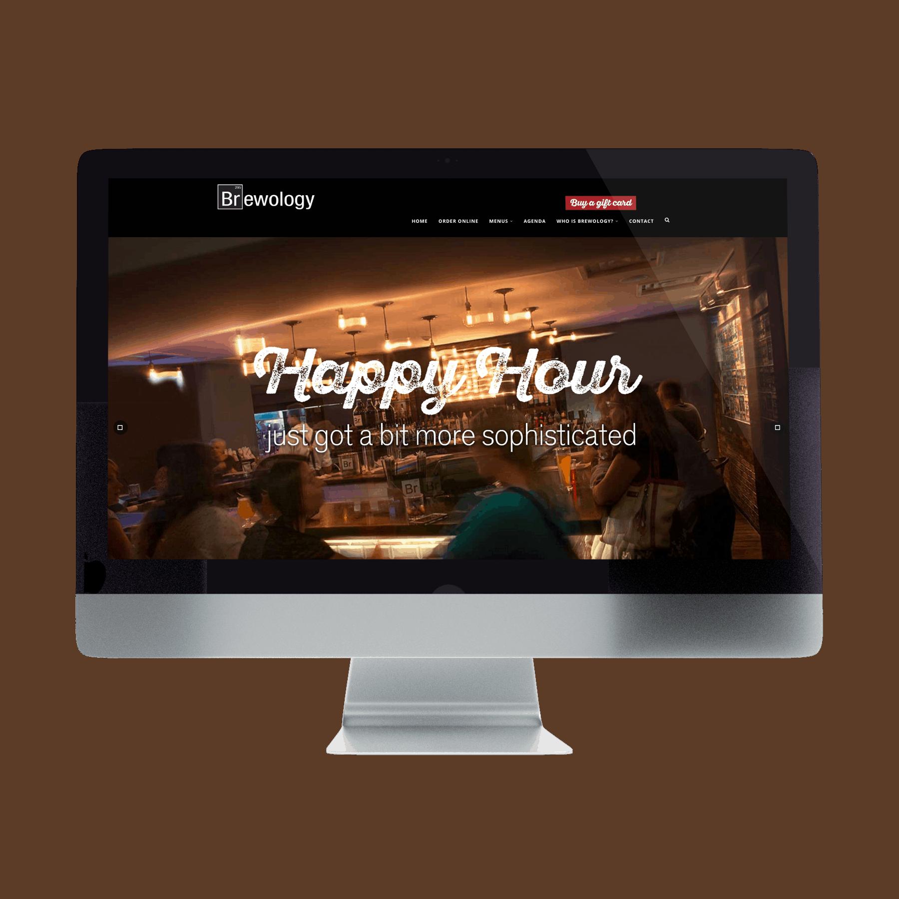 Brewology Website Design Desktop