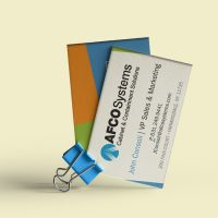 Afco Cabinet & Containment Solutions Business Cards