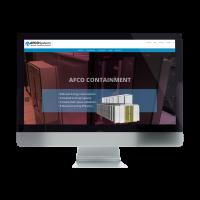 Afco Systems Website on Desktop