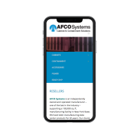 Afco Systems Website on Phone
