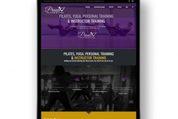 Prana Pilates & Personal Training Institute Website