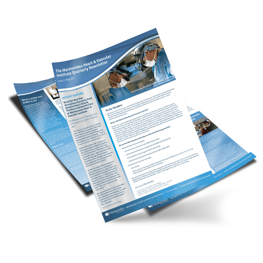 Maimonides Medical Center Newsletter Design - MOKA
