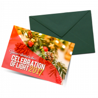 Maimonides Medical Center celebration of light invitation design