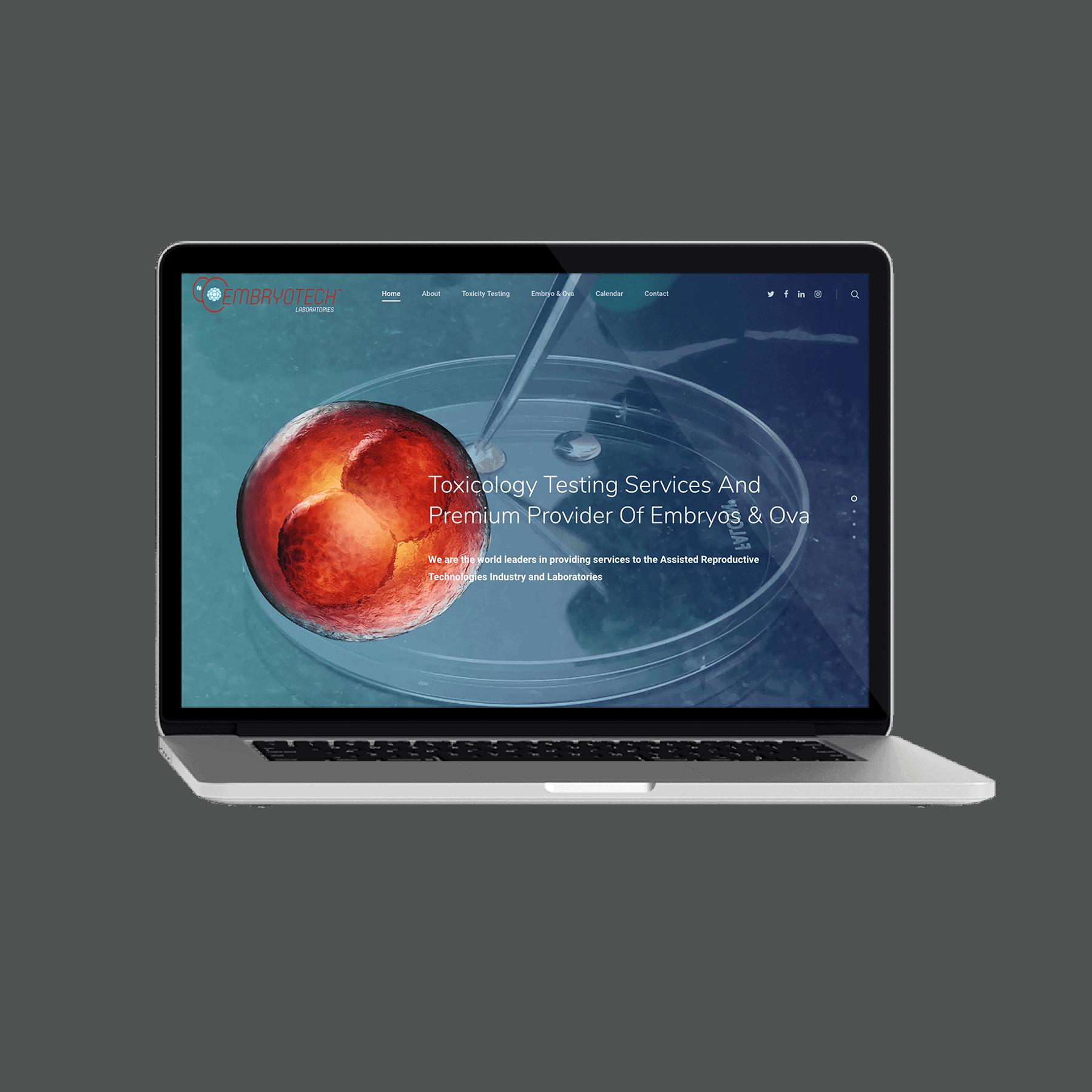 Embryotech Laboratories Website Design